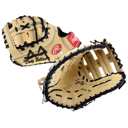 Photo of Cody Bellinger Los Angeles Dodgers Autographed 1st Base Game Model Glove with Multiple Inscriptions - L. E. of 1