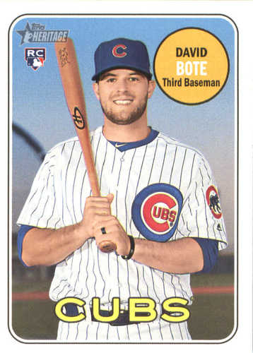 Photo of 2018 Topps Heritage #540 David Bote RC