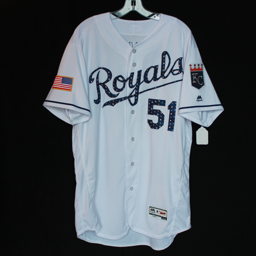 Team-Issued Independence Day Game Jersey: Blaine Boyer (Size 48)