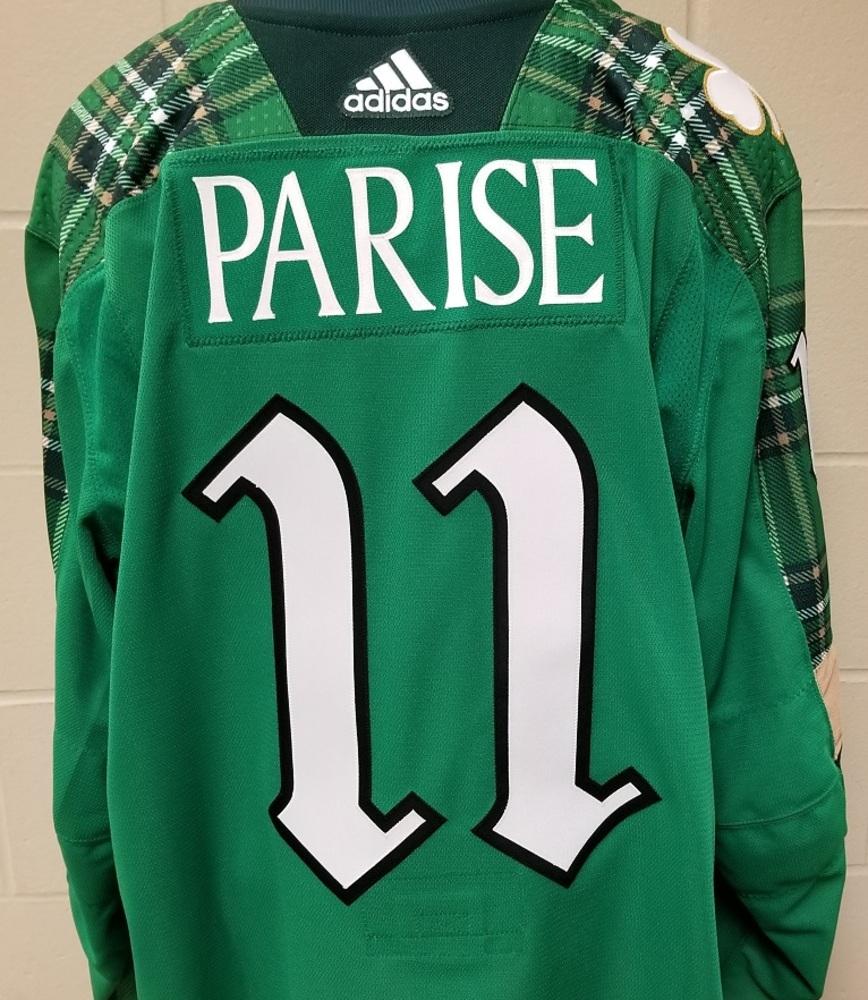 Zach Parise Minnesota Wild 2019 St. Patty's Day Warm-Up Jersey