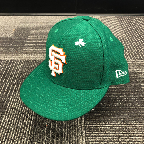 Photo of 2019 Game Used St. Patrick's Day Cap worn by #8 Gerardo Parra on 3/17 vs. Kansas City Royals - Size 7 5/8