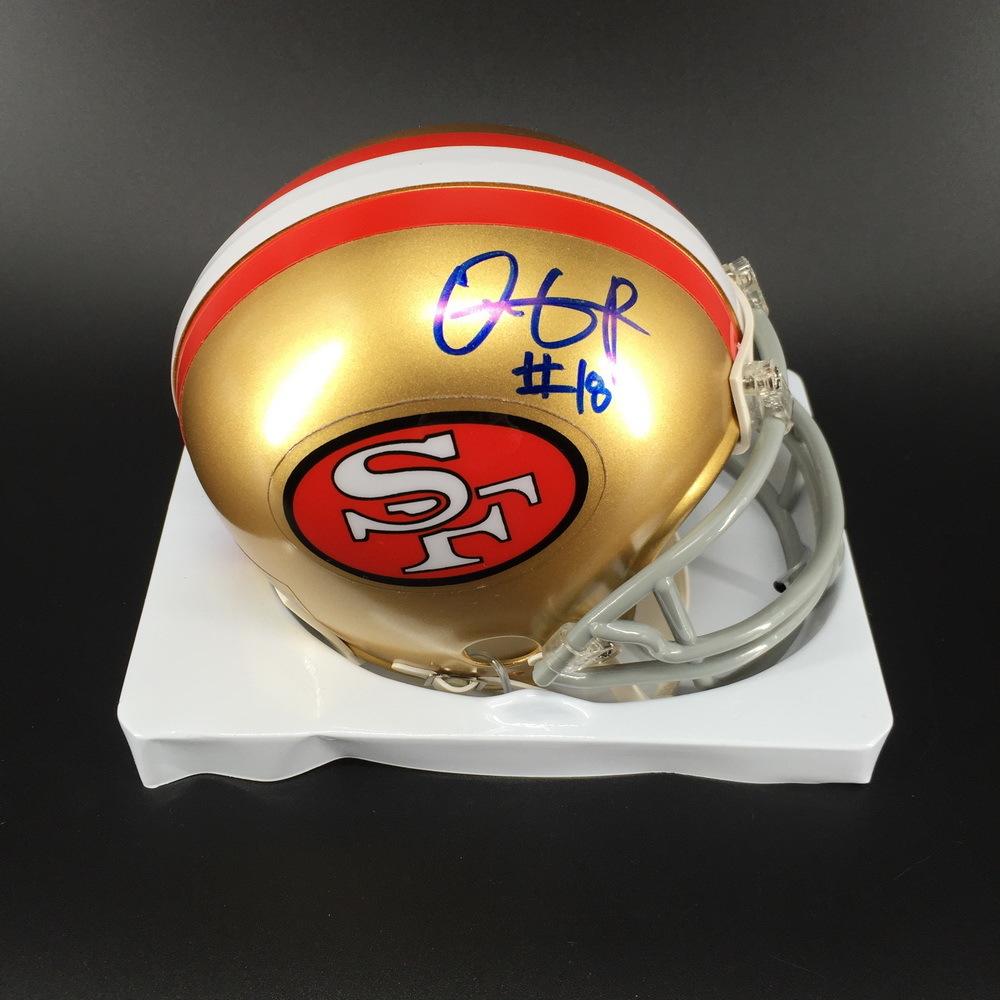 NFL - 49ers Dante Pettis Signed Mini Helmet