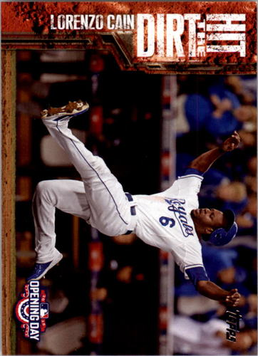 Photo of 2015 Topps Opening Day Hit the Dirt #HTD02 Lorenzo Cain