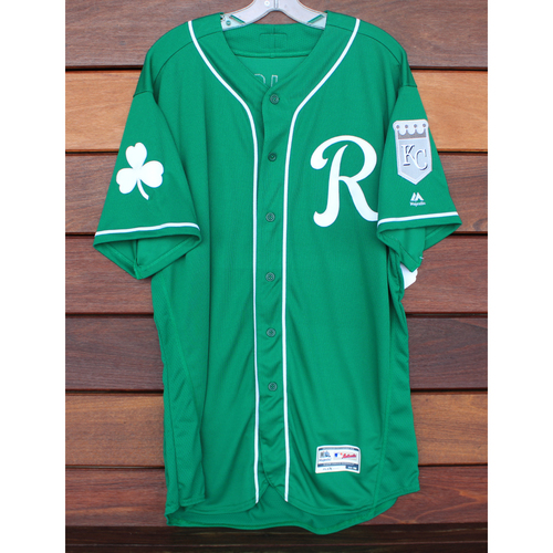 Team-Issued St. Patrick's Day Jersey: Bill Duplissea (Size - 48)