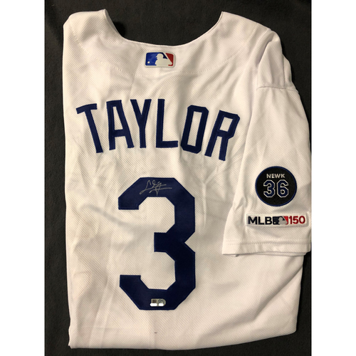 Chris Taylor Authentic Autographed Los Angeles Dodgers Jersey