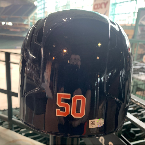 Photo of 2019 Houston Astros Team-Issued Batting Helmet #50 - Size 7 1/4
