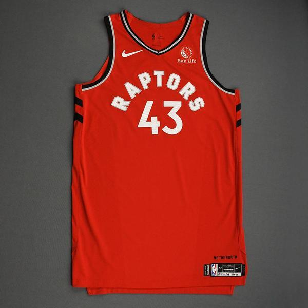 Image of Pascal Siakam - Toronto Raptors - Game-Worn Icon Edition Jersey - NBA Japan Games - 2019-20 NBA Season