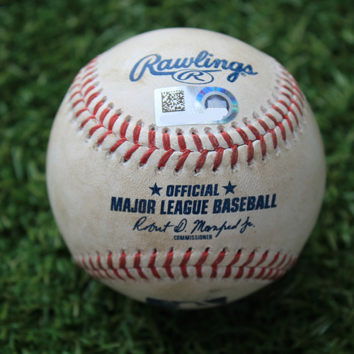 Photo of Game-Used Baseball: Eloy Jimenez 33rd Career Home Run (CWS @ KC 8/1/20)