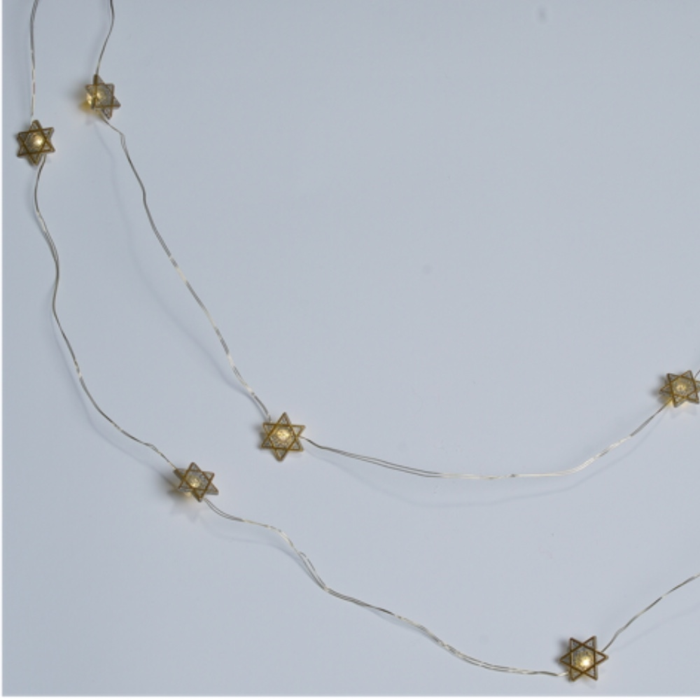 Photo of Starry Light Garland-Gold Star of David