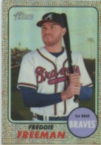 Photo of 2017 Topps Heritage Chrome Refractors #THC449 Freddie Freeman