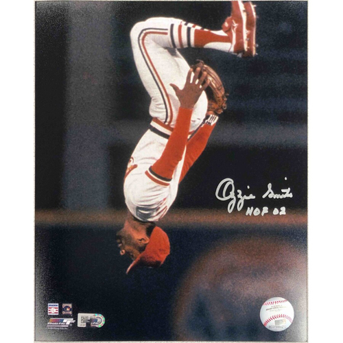 Photo of Cardinals Authentics: Ozzie Smith Autographed Flip Photo
