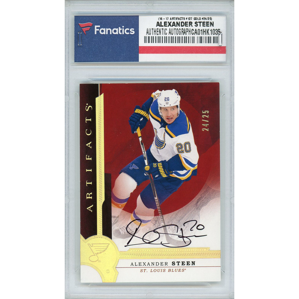 Alexander Steen St. Louis Blues Autographed 2016-17 Upper Deck Artifacts #127 Gold Spectrum Parallel Card - #24 of a Limited Edition of 25