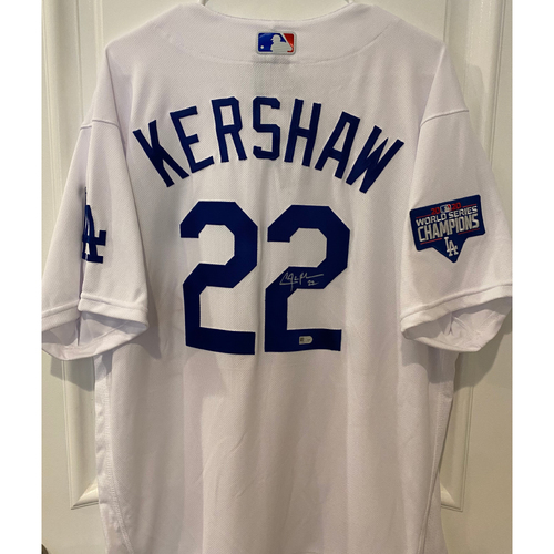 Photo of Clayton Kershaw Autographed Authentic Los Angeles Dodgers Jersey