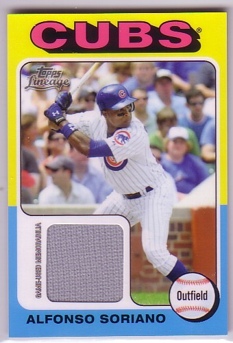 Photo of 2011 Topps Lineage 1975 Mini Relics #AS Alfonso Soriano
