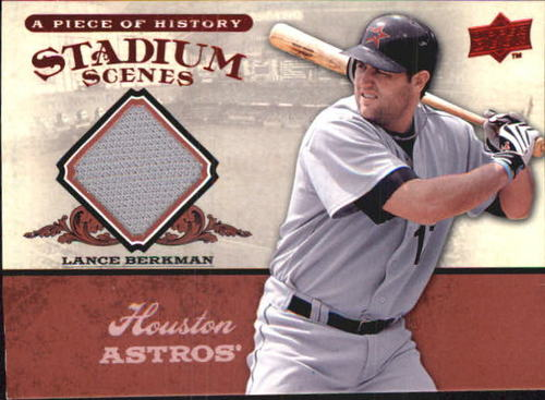 Photo of 2008 UD A Piece of History Stadium Scenes Jersey Red #SS25 Lance Berkman