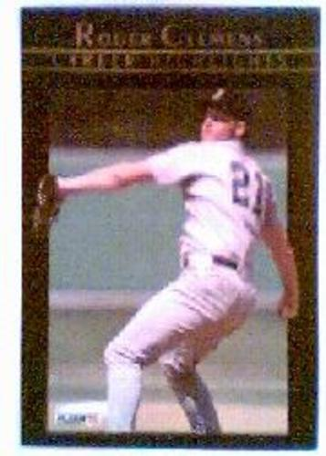 Photo of 1992 Fleer Clemens #4 Roger Clemens/Rocket Launched