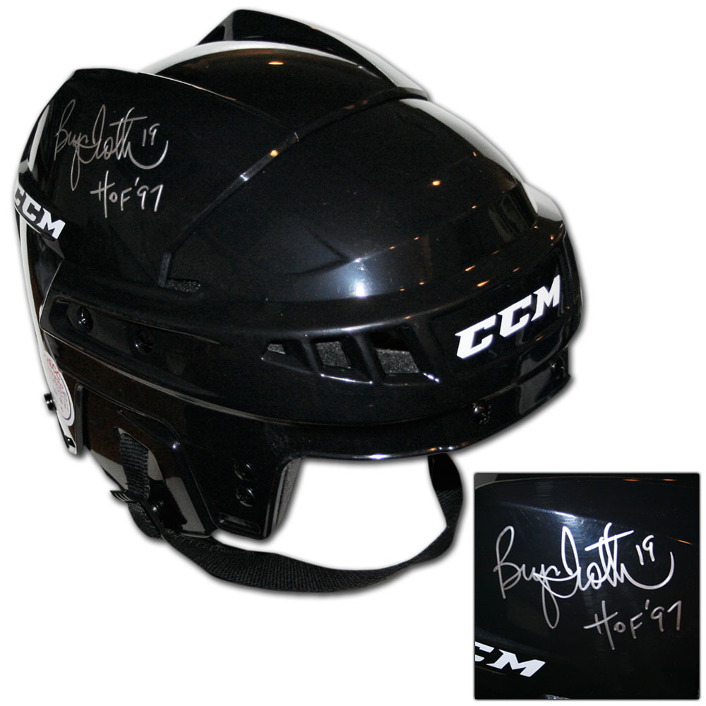 Bryan Trottier Autographed CCM Hockey Helmet (New York Islanders, Pittsburgh Penguins)