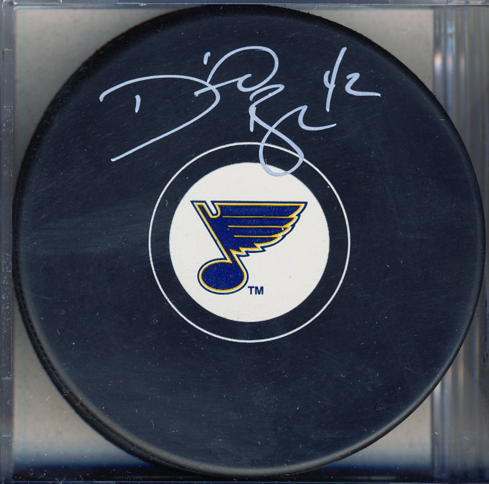 DAVID BACKES St. Louis Blues AUTOGRAPHED Hockey Puck