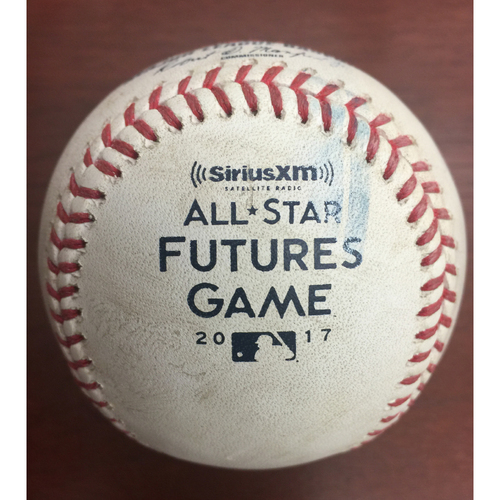 2017 All-Star Futures Game Auction: Game-Used Baseball: First pitch of game - Honeywell to Moncada; foul to screen - Top 1