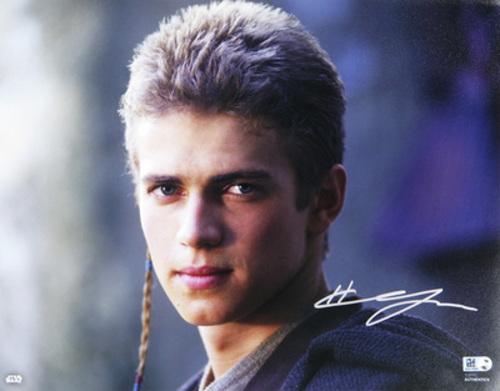 Hayden Christensen as Anakin Skywalker 11x14 Autographed in Sliver Ink Photo