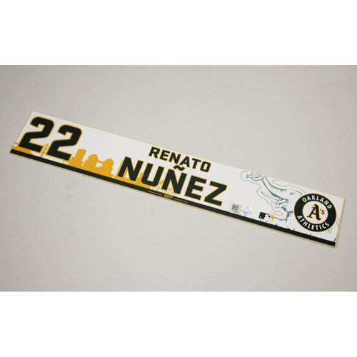 Renato Nunez 2017 Home Clubhouse Locker Nameplate
