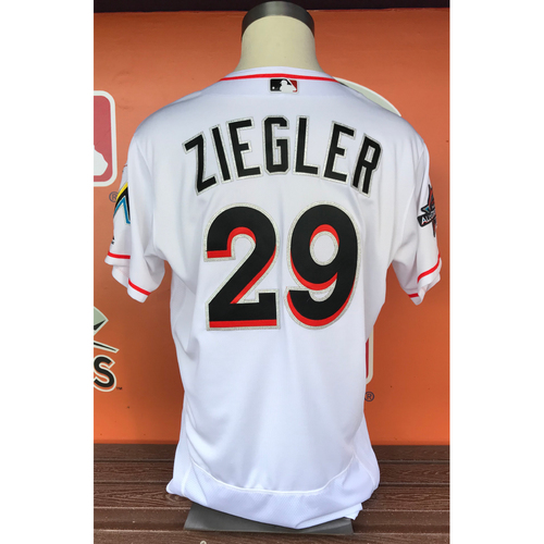 Photo of Brad Ziegler 2017 Home Opener Game-Used Jersey - Size 48