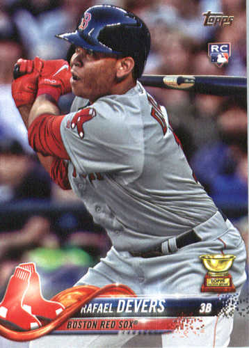Photo of 2018 Topps #18 Rafael Devers RC