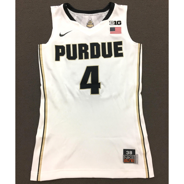 Photo of Thornton #4 Purdue Women's Basketball 2013-14 Size 38 White Jersey
