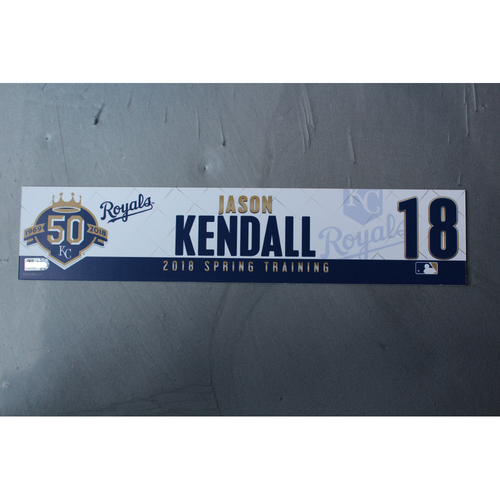 Photo of Spring Training Locker Nameplate: Jason Kendall