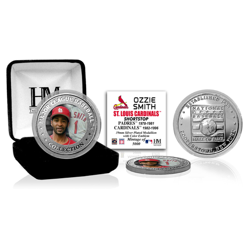 Photo of Ozzie Smith Baseball Hall of Fame Silver Color Coin