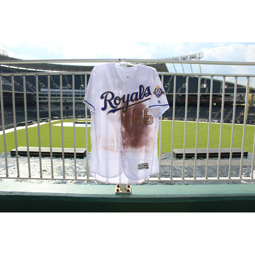 Photo of Game-Used Jersey: Ryan O'Hearn 5th Career Double (Size 48 - MIN @ KC - 9/14/18)