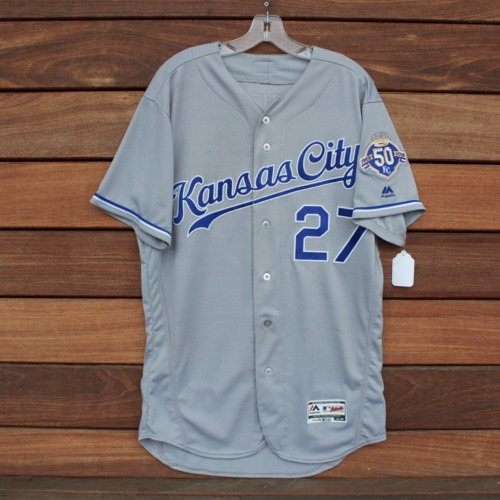 Photo of Game-Used Jersey: Adalberto Mondesi 104th Career Hit (KC @ DET - 9/21/18 - Size 44)