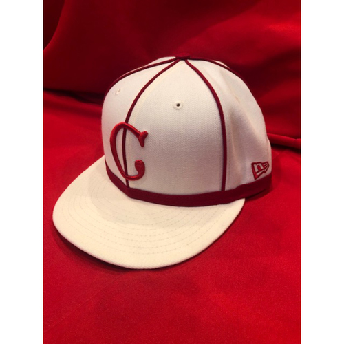David Bell -- 1902 Throwback Cap -- Game Used -- SF @ CIN on May 4, 2019