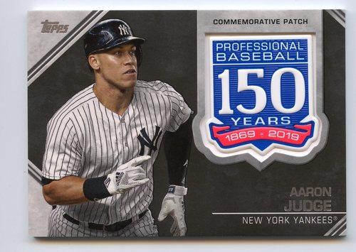 Photo of 2019 Topps 150th Anniversary Manufactured Patches #AMPAJ Aaron Judge S2