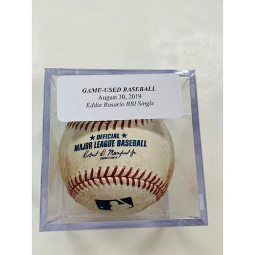 Game-Used Baseball: Eddie Rosario RBI Single