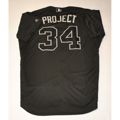 "Photo of Trevor ""PROJECT"" Williams Pittsburgh Pirates Game-Used 2019 Players' Weekend Jersey"
