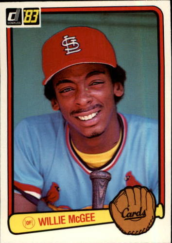 Photo of 1983 Donruss #190 Willie McGee RC