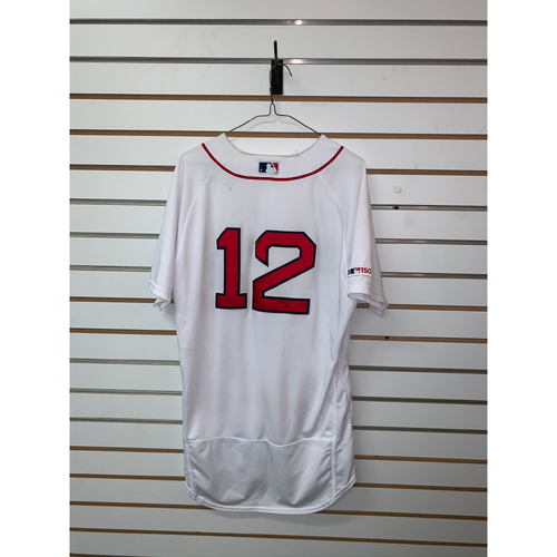 Photo of Brock Holt Game-Used July 28, 2019 Home Jersey