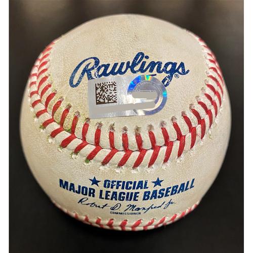 Photo of Whit Merrifield Kansas City Royals Double Baseball (MLB AUTHENTICATED)