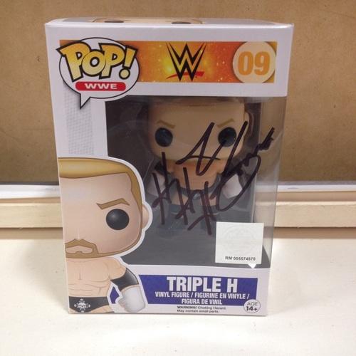 Triple H Signed Pop Vinyl Figure Wwe Auction