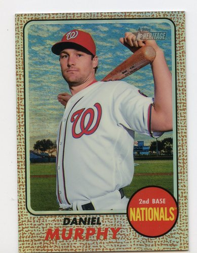 Photo of 2017 Topps Heritage Chrome Refractors #THC457 Daniel Murphy