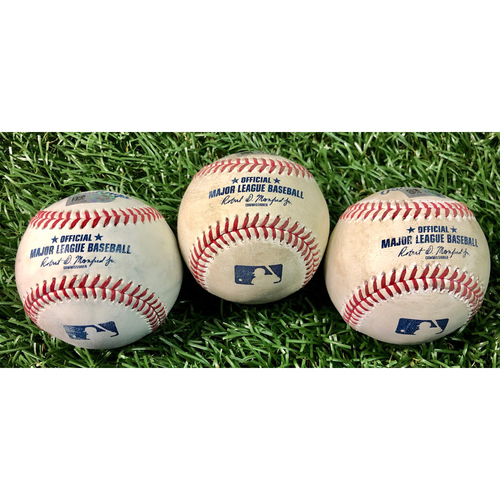 Photo of Game Used Baseball Package: Brian Anderson, Jorge Alfaro & Harold Ramirez - September 5, 2020 v MIA
