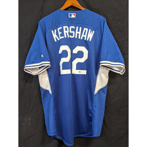 Photo of Clayton Kershaw Team-Issued 2016 Batting Practice Jersey