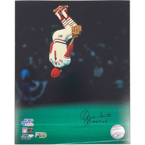 Photo of Cardinals Authentics: Ozzie Smith '85 World Series Flip Autographed Photo