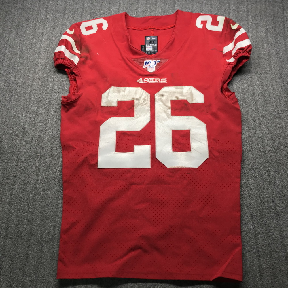 NFL Auction | Crucial Catch - 49ers Tevin Coleman Game Used Jersey ...