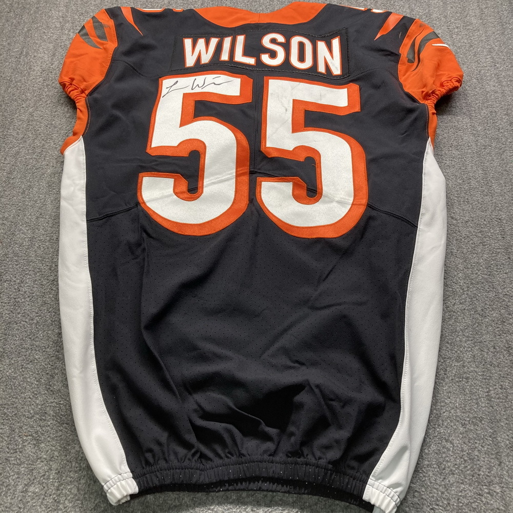 Crucial Catch - Bengals Logan Wilson Signed Game Used Jersey (10/8/20) Size 42