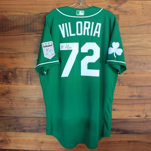 Autographed 2020 St. Patrick's Day Jersey: Meibrys Viloria #72 - Size 46