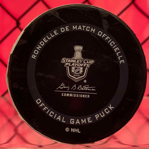 Brendan Gallagher Game 7 Goal Puck (A: Staal)