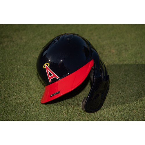 Photo of Mike Trout Team Issued 70's Throwback Helmet