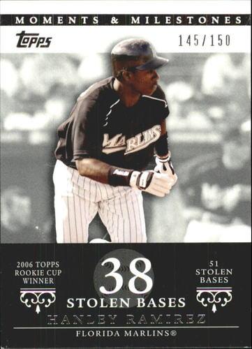Photo of 2007 Topps Moments and Milestones #70-38 Hanley Ramirez/SB 38